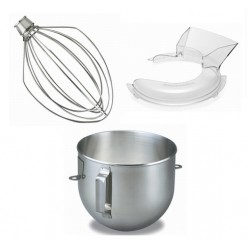 BONUS PACK 1 (S/S BOWL+POURING SHIELD+WIRE WHIP) (FOR 5 QT. USE)